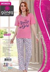 Güneş 6469 Kısa Kol Bayan Pijama Takımı