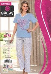 Güneş 6778 Kısa Kol Bayan Pijama Takımı