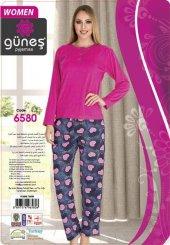 Güneş 6580 Uzun Kol Modal Bayan Pijama Takımı