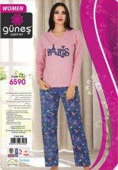 Güneş 6590 Uzun Kol Bayan Pijama Takımı
