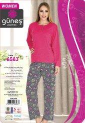 Güneş 6583 Uzun Kol Modal Bayan Pijama Takımı