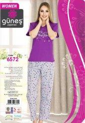 Güneş 6572 Kısa Kol Bayan Pijama Takımı