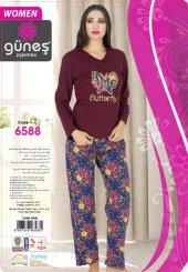 Güneş 6588 Uzun Kol Bayan Pijama Takımı