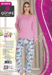 Güneş 6578 Uzun Kol Modal Bayan Pijama Takımı