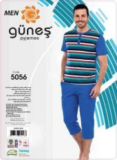 Güneş 5056 Kısa Kol Erkek Kapri Pijama Takım