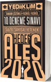 Yediiklim Yayınları 2020 Ales Sözel Sayısal Yetenek Hedef Tamamı Çözümlü 10 Deneme Sınavı