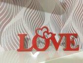 Love Ahşap Masa Vitrin Süsü