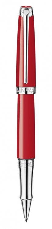 Caran Dache L� Man Red Silver Plated, Rhodium Coated Finish Tükenmez Kalem (Roller)