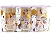 Paşabahçe Purple Party 3 Lü Meşrubat Bardağı