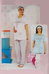 Bayan Kalpli Hamile Pijama Takım