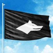 Göktürk Bayrağı Siyah Beyaz Raşel Kumaş
