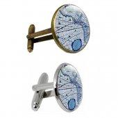 Altın Kuğu Map Kol Düğmesi