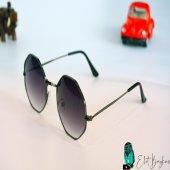 Sekizgen Şık Siyah Gözlük-2