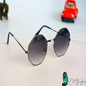 Sekizgen Şık Siyah Gözlük-3