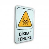 Pvc Uyarıcı Levha Dikkat Tehlike 16*24 Cm