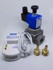 Gaz Alarm + 1 2 Selenoid Vana Lpg İçin Güvenlik...