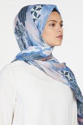 Sapphire Pamuk Şal Mavi Kiremit Sp 18y 18287 7058