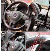 Mazda Rx8 Dikmeli Deri Direksiyon Kılıfı Karbon...