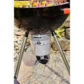 Alamo Kömürlü Mangal Yuvarlak Küre Mangal Termometreli Mobil-4