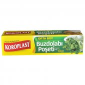 Koroplast Buzdolabı Poşeti Orta Boy 24x38 Cm 30lu 6 Paket