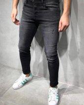 Yeni Sezon Erkek Dar Kesim Slimfit Likralı Rahat Diz Yırtık Günlük Kot Pantolon Grj Gri