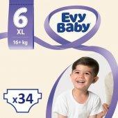 Evy Baby Bebek Bezi 6 Beden Ekstra Large Dev Paket 34 Adet
