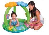 Intex Gölgelikli Çiçekli Bebek Havuzu 102x81 Cm...