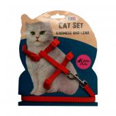 ANS Kedi Göğüs Bel Tasması Kırmızı