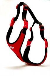 Doggie Softlu Siyah Köpek Bel Tasması 60 85 Cm Kırmızı