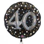 Folyo Balon Sparklıng Bırthday 40 Yaş 81x81cm...