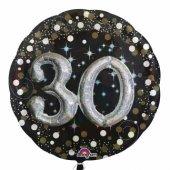 Folyo Balon Sparklıng Bırthday 30 Yaş 81x81cm...