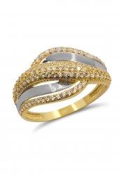 Cigold 14 Ayar Altın Taşlı Yüzük Yz0286050002
