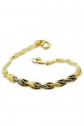 Cigold 14 Ayar Altın Taşsız Bileklik K1blk0551002471