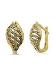 Cigold 14 Ayar Altın Taşlı Küpe K1kp0276000749