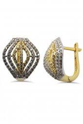 Cigold 14 Ayar Altın Taşlı Küpe K1kp0367000761
