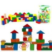 Ahşap Bloklar 60 Parça Kova Set Bloklar%100 Yerlli Kargo Ücretsiz (#409037040)