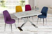 Alvina Şimdi Kaliteli Ürünlere Bakmanın Vakti Beyaz Masa Renkli Sandalye