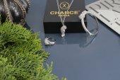 İtalyan Tasarım Pırlanta Çelik Gümüş Altın Panter Leopar Set
