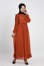 Loreen Kadın Kiremit Elbise 22120