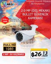 2.0 MP (DIŞ MEKAN) BULLET GÜVENLİK KAMERASI (HD 1080p)