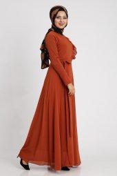 Loren Kadın Kiremit Elbise 22089