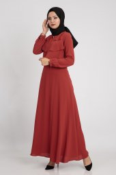 Puane Kadın Kiremit Elbise 12026