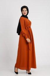 Puane Kadın Kiremit Elbise 12061