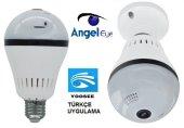 Angeleye Panoramik 360 Derece Globe Ampül Led Wifi Ip Kamera