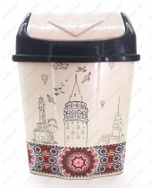 1 No Klik Çöp Kovası 3,5 Lt İstanbul Desenli