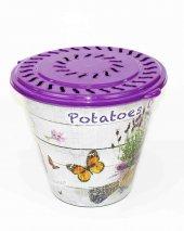 Topçu Plastik Desenli Patates Soğan Sepeti T1737-4