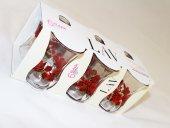 Lav Desenli Çay Bardağı Optikli 30020 6 Lı