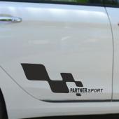 Peugeot Partner Yan Sport Oto Sticker Sağ Sol 2 Adet
