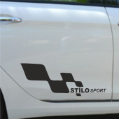 Fiat Stilo Yan Sport Oto Sticker Sağ Sol 2 Adet