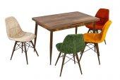 Bilgi Şıklığın Simgesi Rengarenk 4 Sandalye Ceviz 1 Masa